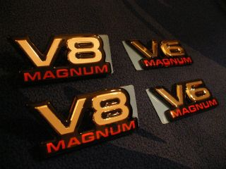 Dodge RAM Dakota Durango V6 V8 Magnum Emblem Decal New