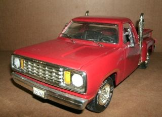 18 Dodge Pick Up Truck Diecast   1978 Dodge Ram 150 Model   Lil Red