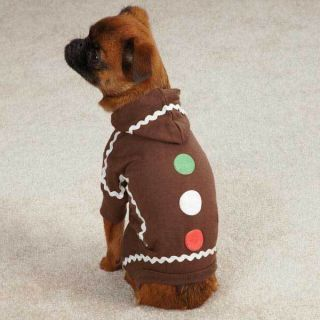Gingerbread Dog Costumes Easy Fit Dogs Pajama PJs Pet Apparel