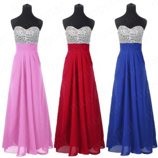 Ball Cocktail Formal Gowns Beads Strapless Party Long Dresses