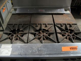 of 2   Wolf 3 Burner Gas Stove + DUKE MFG 4 Well Hot Food Steam Table