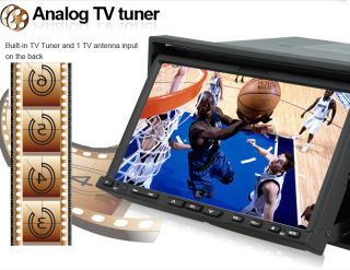 Double 2 DIN Car DVD Player GPS Navigation Camera Map