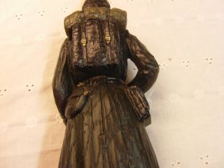 Dunning Civil War Statue Mold Antique Lamp Light Vintage Table Art