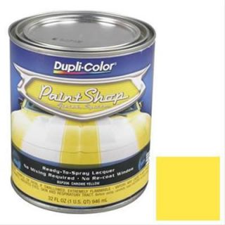 Dupli Color Paint Paint Shop Finish Lacquer Gloss Chrome Yellow 1 qt
