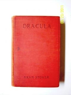 Dracula 1897 Reprint Red Stage Play Ed Bram Stoker VG