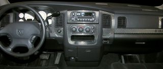 Dodge RAM 1500 2500 Interior Wood Carbon Fiber Dash Trim Kit 2003 2004