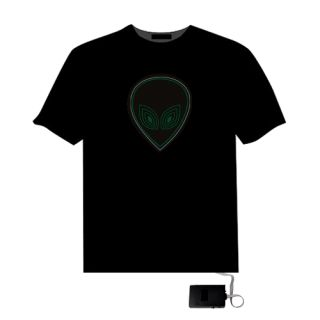Sound Activated E T s Head El LED Equalizer T Shirt