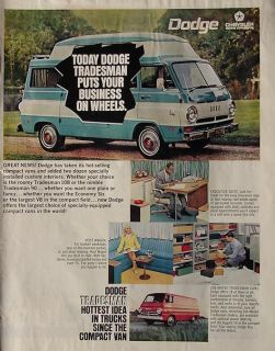 1968 Dodge Tradesman Van Ad Old Chrysler Advertisement