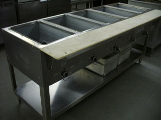 Compartment Gas Steam Table Duke Aerohot 305M Hot Food Buffet Unit