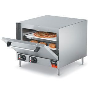 Vollrath 40848 Countertop Electric Pizza Oven with 2 Ceramic Decks 208