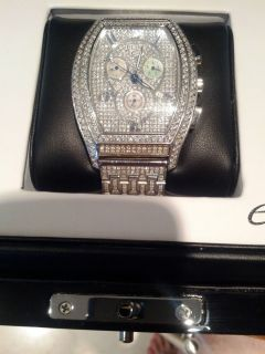 ELINI Jumbo Haute Chronograph Watch with Diamonds Approx 9 00 CTW