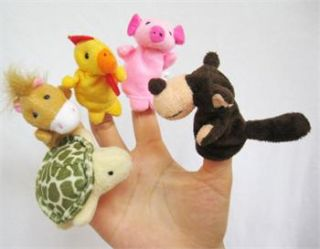 New 5X Animal Finger Puppets Baby Toys Plush Toys 40D