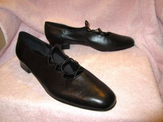 New Van Eli VANELI Black Soft Italian Leather Ballet Flats Shoes 12