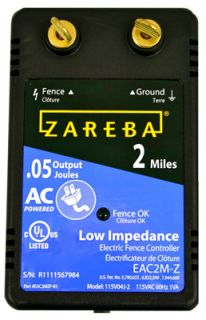 Zareba EAC2M Z AC Powered 2 Mile Low Impedance Electric Fence Charger