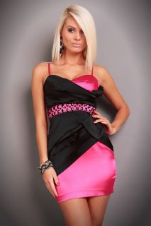 New Mini Dress Womens Ladies Sexy Party Evening Dresses Pink Black