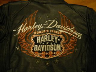 Harley Davidson Womens Size Large Leather Jacket