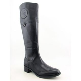 Etienne Aigner Chastity Womens Size 10 Black Leather Fashion Knee High