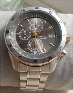 Seiko SNDC51P1 Mens Stainless Steel Chronograph Watch