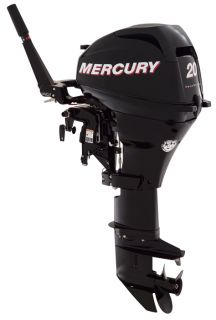 Mercury 20 HP Electric Start 4 Stroke Outboard Motor Tiller 15 Shaft