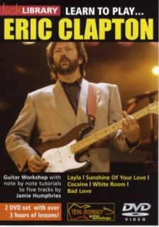 Lick Library Learn to Play Eric Clapton Guitar DVD New