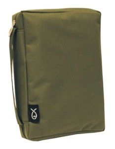 Basic Canvas Bible Cover   Olive Green   Extra Large XL   NWT