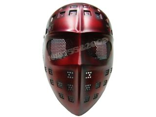 Eye Mesh Hard Plastic Full Face Cover Mask Spider Red Color