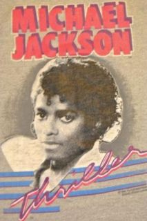 Vintage 1984 Michael Jackson Thriller T Shirt T Shirt Soft Gray Small