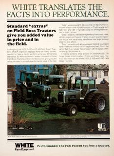 1978 Ad White Farm Equipment Field Boss Tractors Heavy Performance