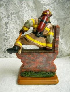 Red Hats of Courage Fire Fighter Figurine Fearless First Edition 2000