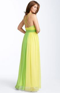 New Alex Eve Evenings Ombre Chiffon Colorblock Gown 2