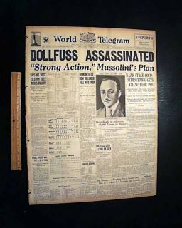 John Dillinger Woman in Red Engelbert Dollfuss Assassinations