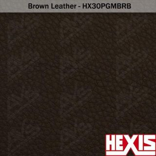 HEXIS Brown Leather Vinyl Wrap Decal Film Sheet   11yds x 54in