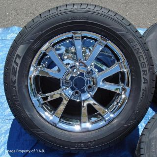 17 Factory Chevy Chrome Wheels w Tires Uplander Aztec