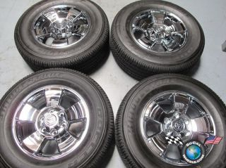 four 03 12 Toyota Tacoma Factory 17 Wheels Tires OEM Rims Chrome