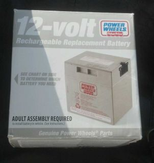 Power Wheels Fisher Price 12 Volt Rechargeable Battery