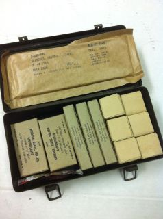 WWII Era Army First Aid Kit Medical Supply Hospital Medic Bandage