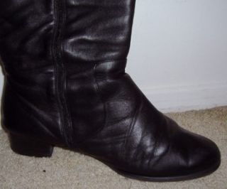 Fitzwell Womens Syrup Extra Wide Black Softy Calf Boots   13WW