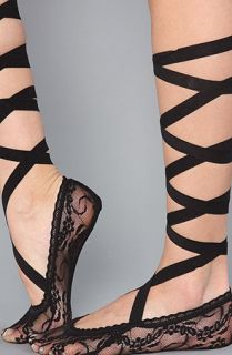 Foot Traffic The Lace Ribbon Sock in Black