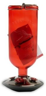 Perky Pet 8109 2 Red Antique Glass Bottle16 Ounce Hummingbird Feeder