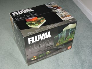 New Hagen Fluval Edge 6 Gallon Glass Aquarium Kit Upgraded 21 LED