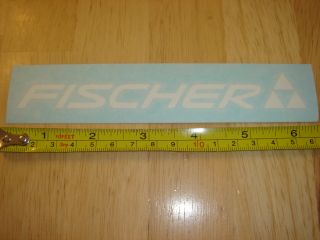 fischer skis sticker decal die cut new this auction is for the fischer