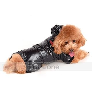 fashion cool pet dog apparel waterproof hooded jacket puppy sports
