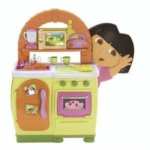 Fisher Price Dora The Explorer Talking Kitchen New