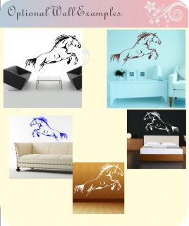 Horse Jumping Riding Kids Childrens Wall Art Stickers Decal Vinyl Show