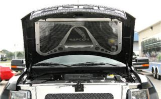 Ford F 150 Raptor 2010 12 Stainless Steel Hood Trim Panel Perforated