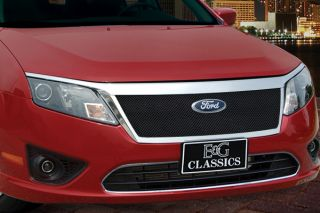 10 12 Ford Fusion Front Billet Grill, Black Ice Car Grille by E&G