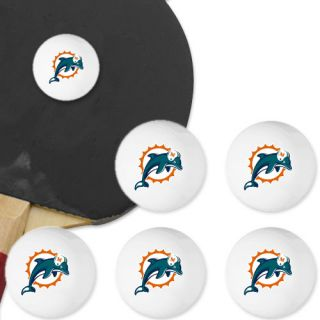 Miami Dolphins 6 Pack Team Logo Table Tennis Balls