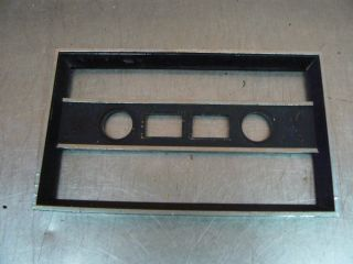 1977 Fiat 124 Spider Original Center Dash Trim Face Plate JF229
