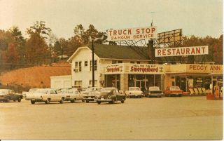 Peggy Ann Truck Stop and Smorgasbord, Rockwood, Tennessee, 1960s Post