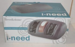 Brookstone I Need Soothing Foot Massager Rolling Shiatsu Kneading Air